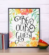 Be Our Guest Print Home Decor Wall Art Print Instant