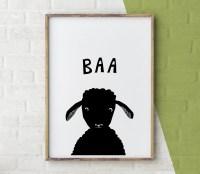 Sheep Print Farm Animal Wall Art Lamb Print Baby Animal