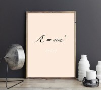 Einstein poster Physics poster Science wall art Letter wall