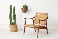 Mid Century Woven Lounge Chair