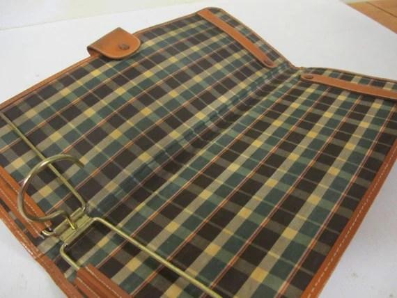 Mid Century Travel Case Leather Tie Case Tie Holder Travel