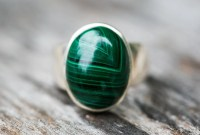 Malachite Ring Malachite Gemstone Ring Green Malachite Ring