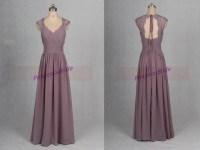 2016 long gray-purple chiffon bridesmaid dress hot latest