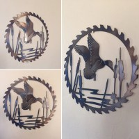 Duck Scene Metal Wall Art Decor by Cre8iveMetalDesigns on Etsy
