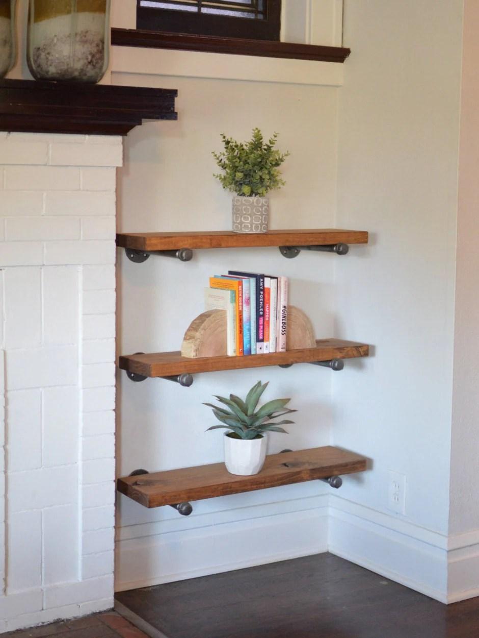 12 Depth Floating Shelves Book Shelf By Deliriousbydesign