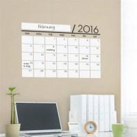 Vinyl Wall Sticker Decal Wall Calendar Dry Erase by ...