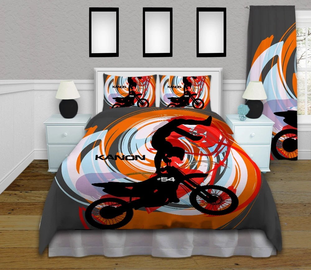 Bettwäsche Motocross Orange Motocross Comforter Motocross By Eloquentinnovations