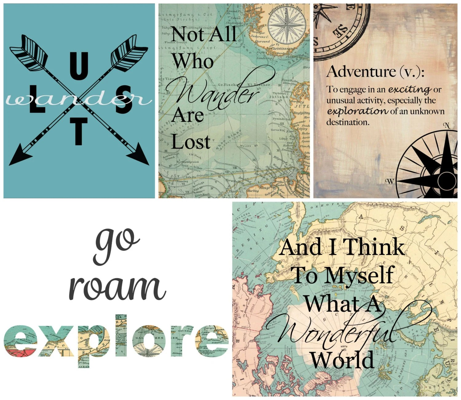 Travel Themed Dorm Room Travel Art Gallery 5 Printable Wall Art Travel Gift Dorm