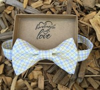Yellow plaid bow tie for boys baby toddler by ...