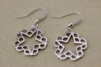 Silver Black Veil Brides Earrings Christmas Gifts