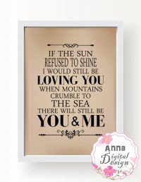 YOU and ME. Printable Art Love inspirational Wall Art Love