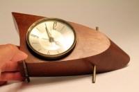 50s ATOMIC BOOMERANG desk clock mid century vintage era