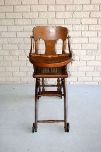 Antique Victorian Baby High Chair//High Chair With