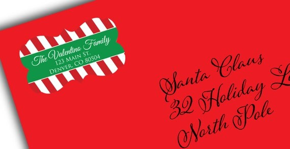 Holiday Cards Envelope Seals Christmas Card Address Labels Christmas - how to address christmas cards