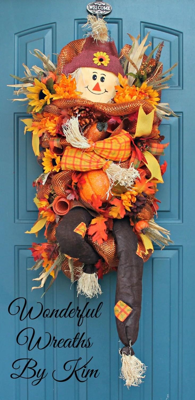 Cute Sunflower Wallpaper Fall Wreath Scarecrow Wreath Autumn Wreath