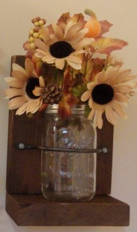 Rustic Bookends/Home Decor/Mason Jars/Country by ...