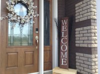 Welcome Sign for Front Door Wood Welcome Sign Welcome Sign