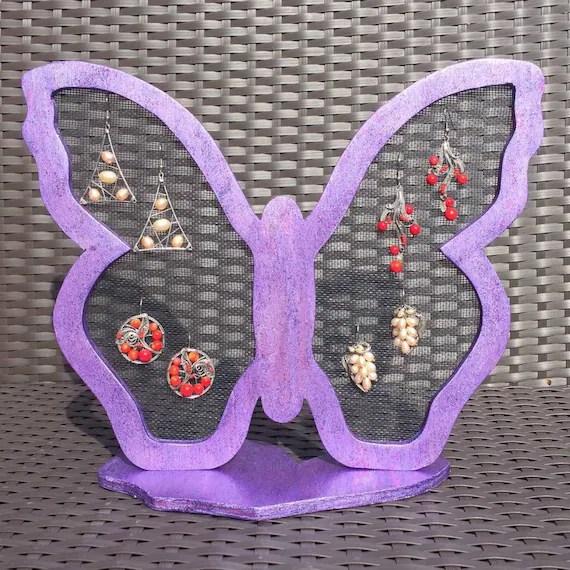 Earring Holder Stand Girls Earring Holder Butterfly by