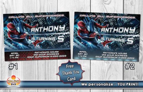 SalensSVR - Spiderman Birthday Party Invitation / Printable