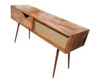 Mid Century Entry Table / Speaker Table by OrWaDesigns on Etsy