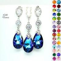Purple Earrings Necklace Set Jewelry Set by ...