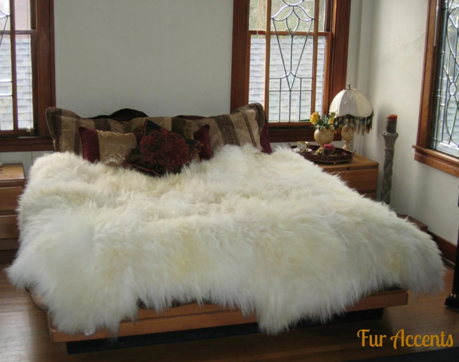Vloerkleed Bont Shag Sheepskin Faux Fur Area Rug Thick Mongolian By Furaccents
