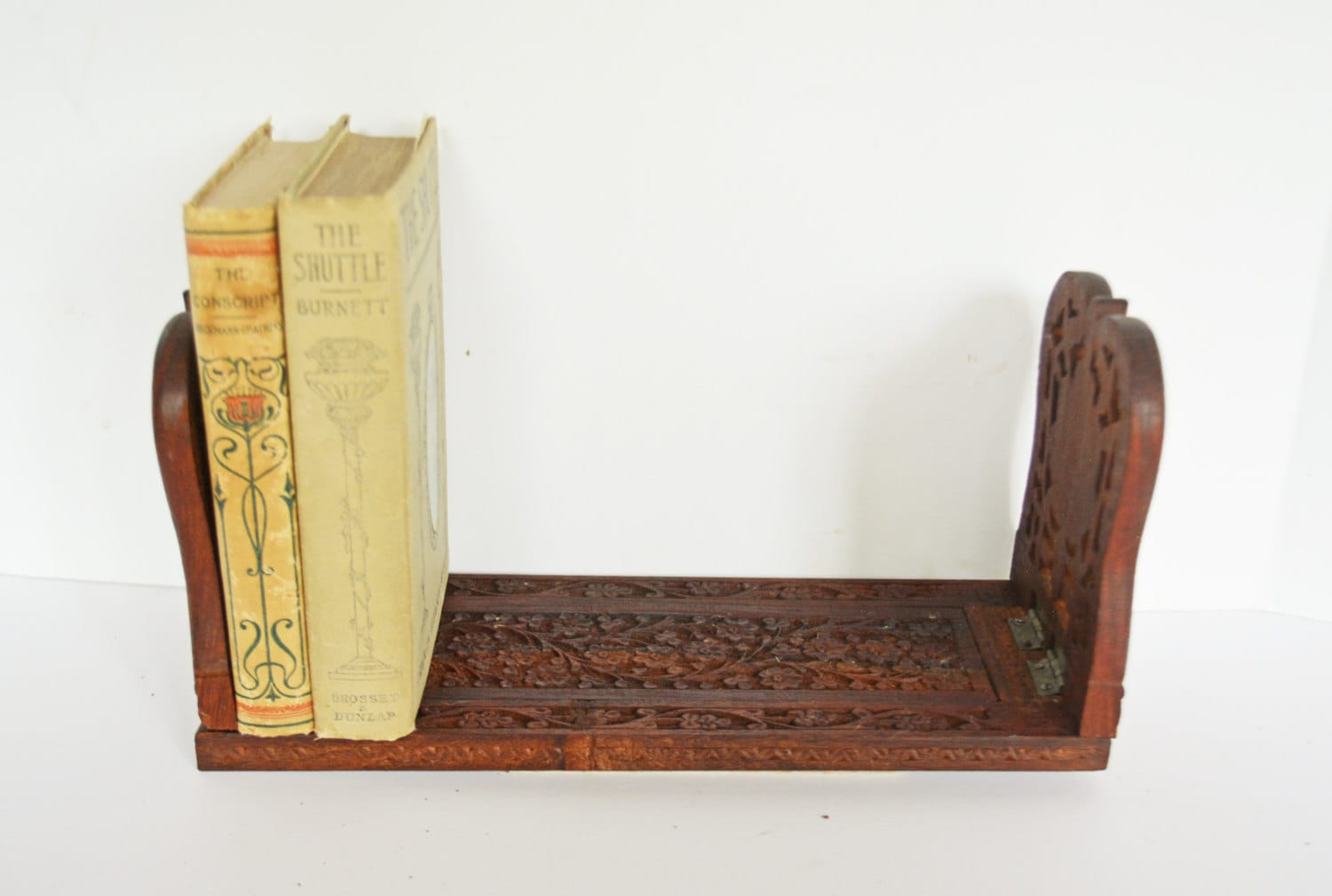 Book Holding Stand Vintage Book Stand Wooden Book Holder Expandable By