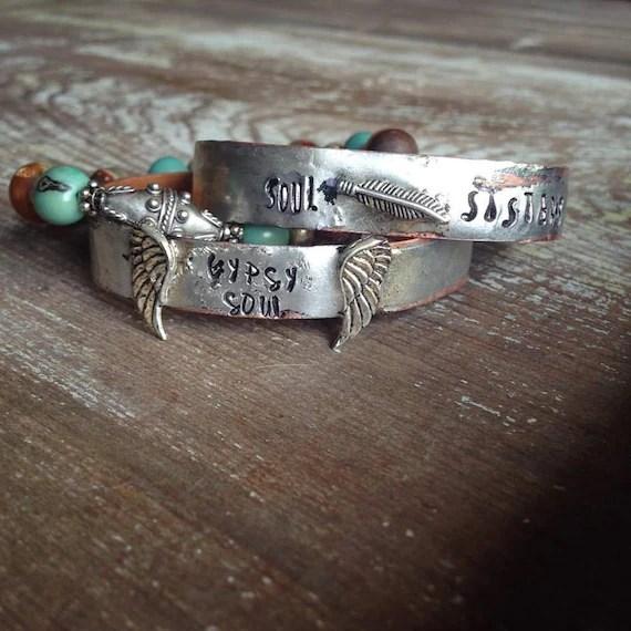 Soul Sisters Cuff Bracelet Best Friends Cuff Bracelet Best