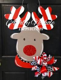 Rudolph the Red Nosed Reindeer Door Hanger Christmas Door