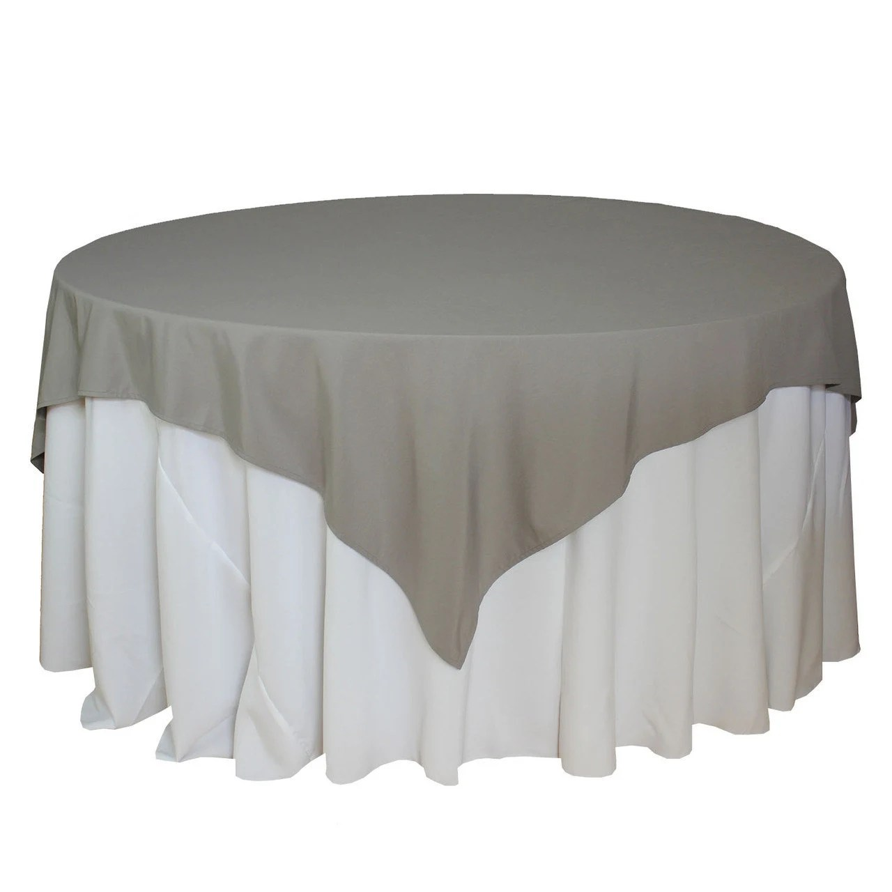 Square Tablecloth 72 X 72 Inches Gray Table Overlays Square Gray Tablecloths