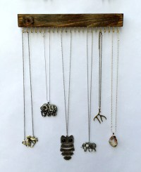 Wall Mount Jewelry Organizer Necklace Holder by TheKnottedWood