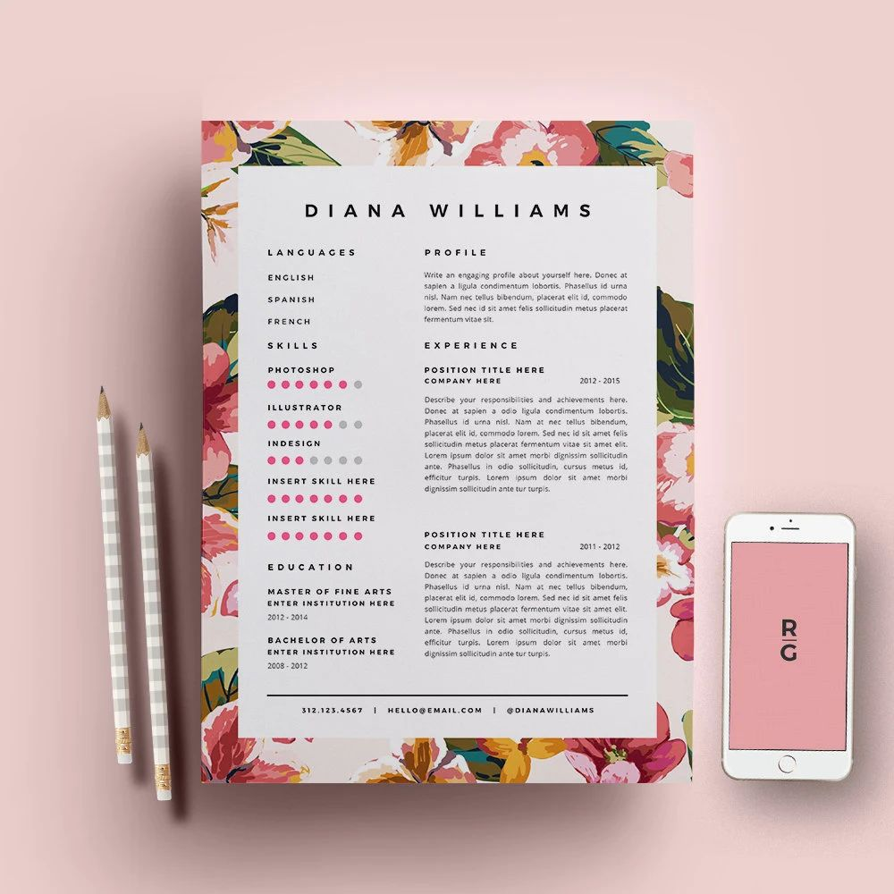 template cv design facile