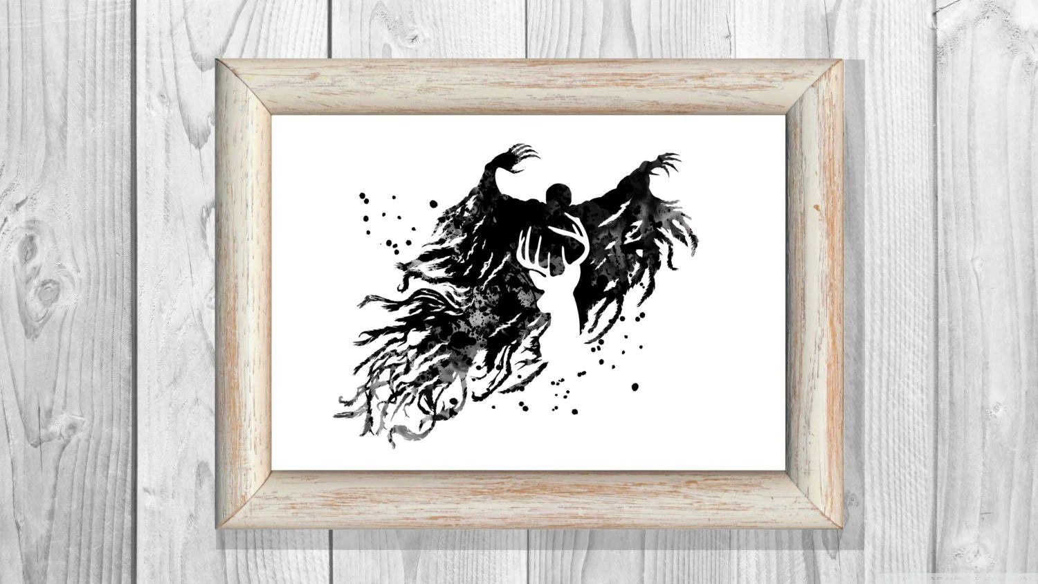 Harry potter poster dementor poster harry potter watercolor