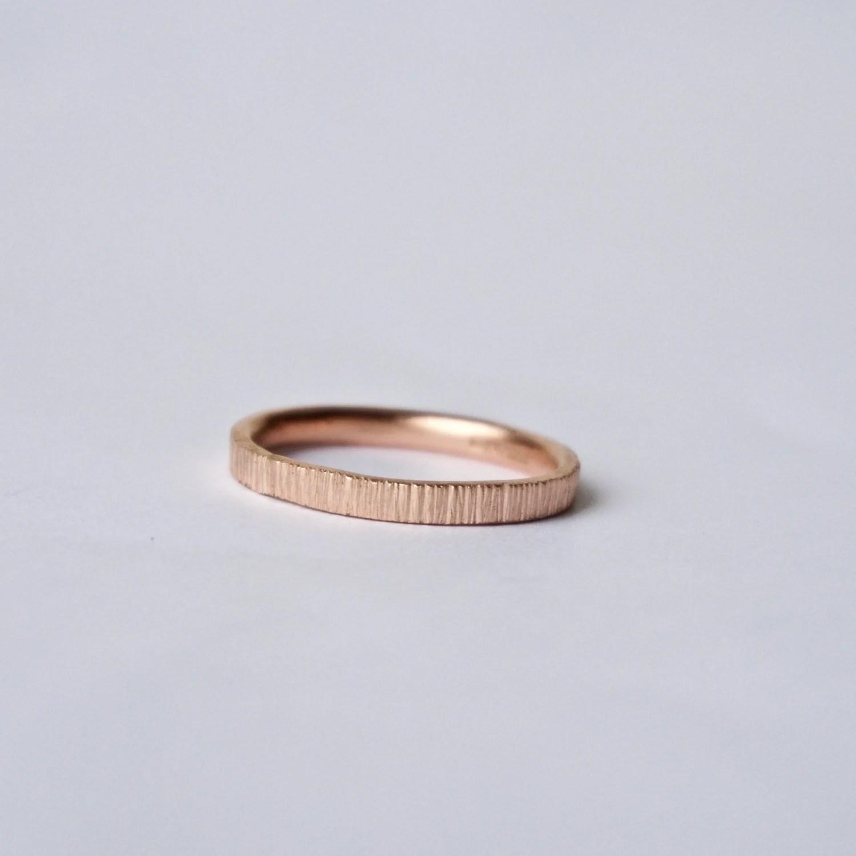 tree bark ring unisex wedding bands Rose Gold Tree Bark Ring Unique Wedding Band Women s Wedding Ring Men s Wedding Band Rose Pink Red Gold Thin Ring