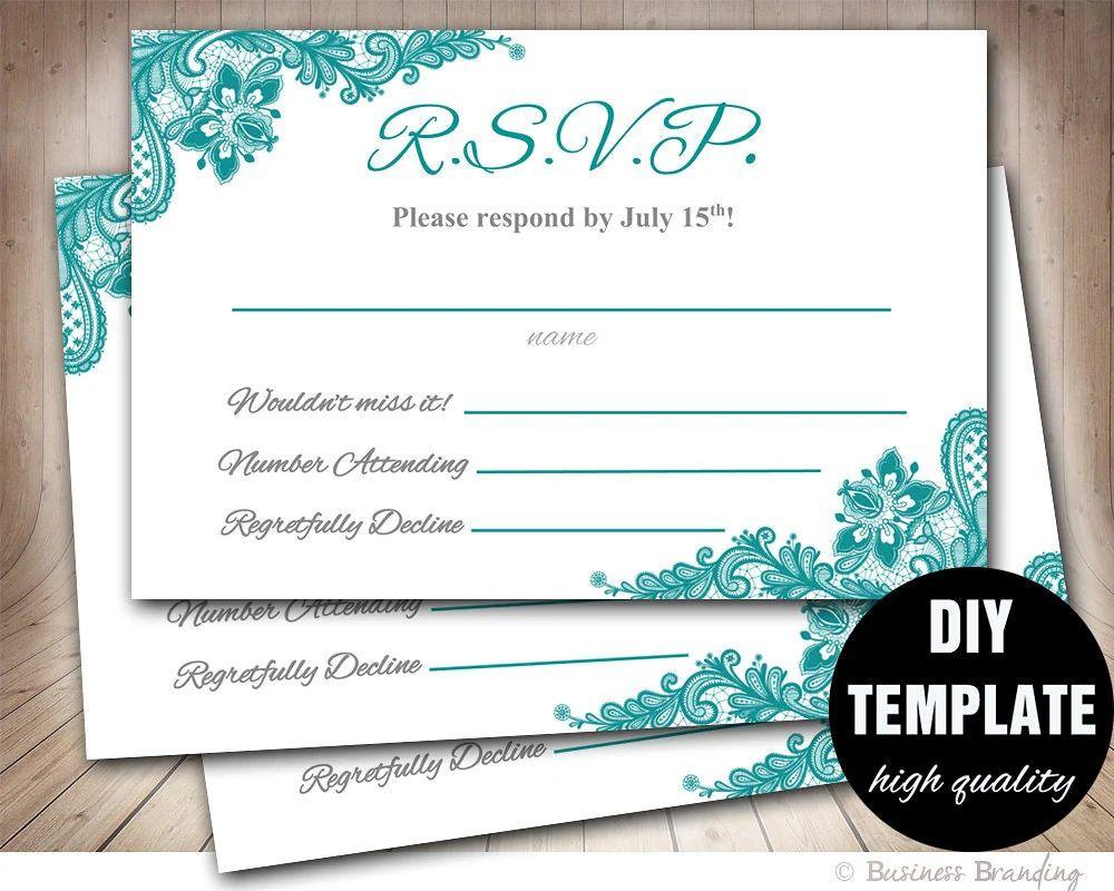 printable wedding response cards