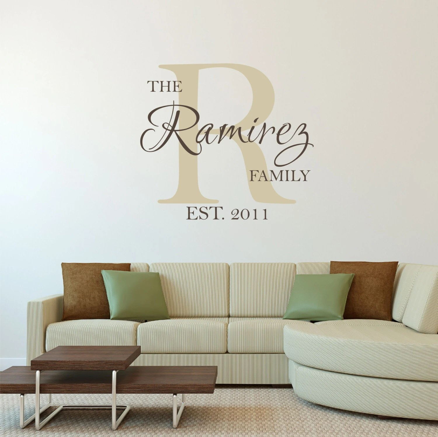 Personalized Family Name Wall Decal Sticker