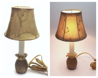 Brass Pineapple Lamp Candlestick Lamp Vintage Light Small