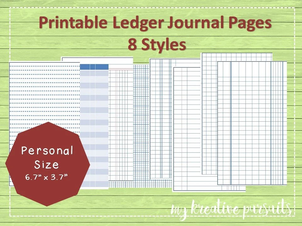 Printable Bullet Journal Papers Ledger Papers Midori Inserts - printable ledger pages