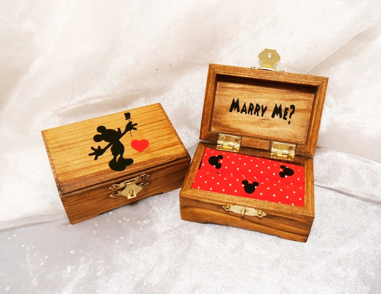 disney ring box disney wedding ring Mickey Mouse Marry Me Ring Bearer Ring Box Ring Pillow Alternative Disney Wedding Ring Box Will You Marry Me Ring Box Disney