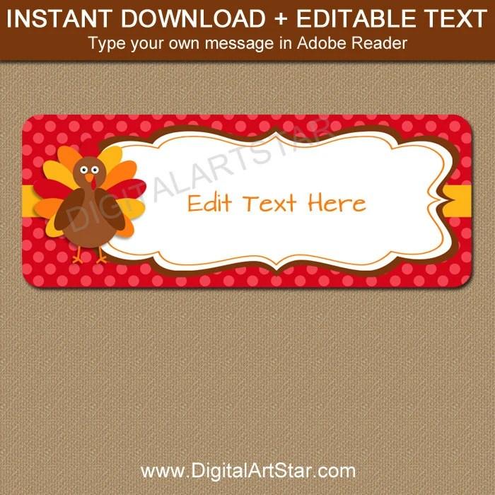 Thanksgiving Address Labels - Digital Thanksgiving Return Labels