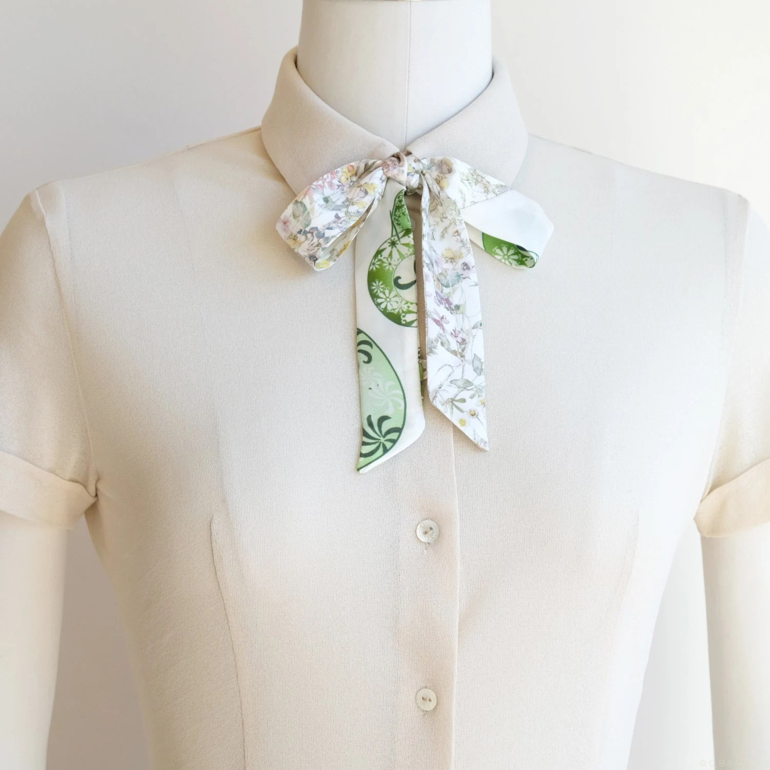 Small neck scarf silk scarf Liberty by CBanningAccessories