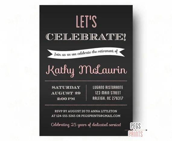 Retirement Party Invitation   Retirement Party Invites