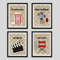 Movie Prints Home Theater Decor Wall Art Showtime by ...