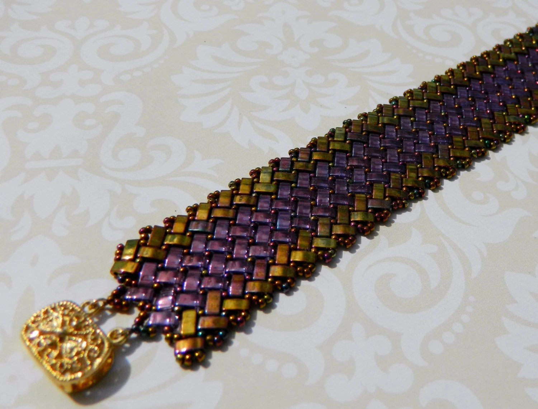 Gold Amethyst Half Tila Bracelet