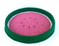 Watermelon Pet Bed Crochet Pet Bed Cat Bed Pet by SiestaPet