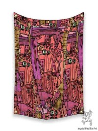 Colorful Wall art Hippie tapestry Boho Tapestries by ...