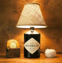Upcycled Glass Hendricks Gin Bottle Lamp Light Free by ...