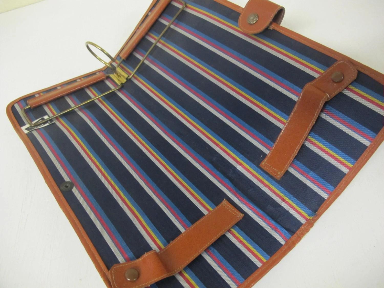 Leather Travel Case Leather Tie Case Tie Holder Travel Case