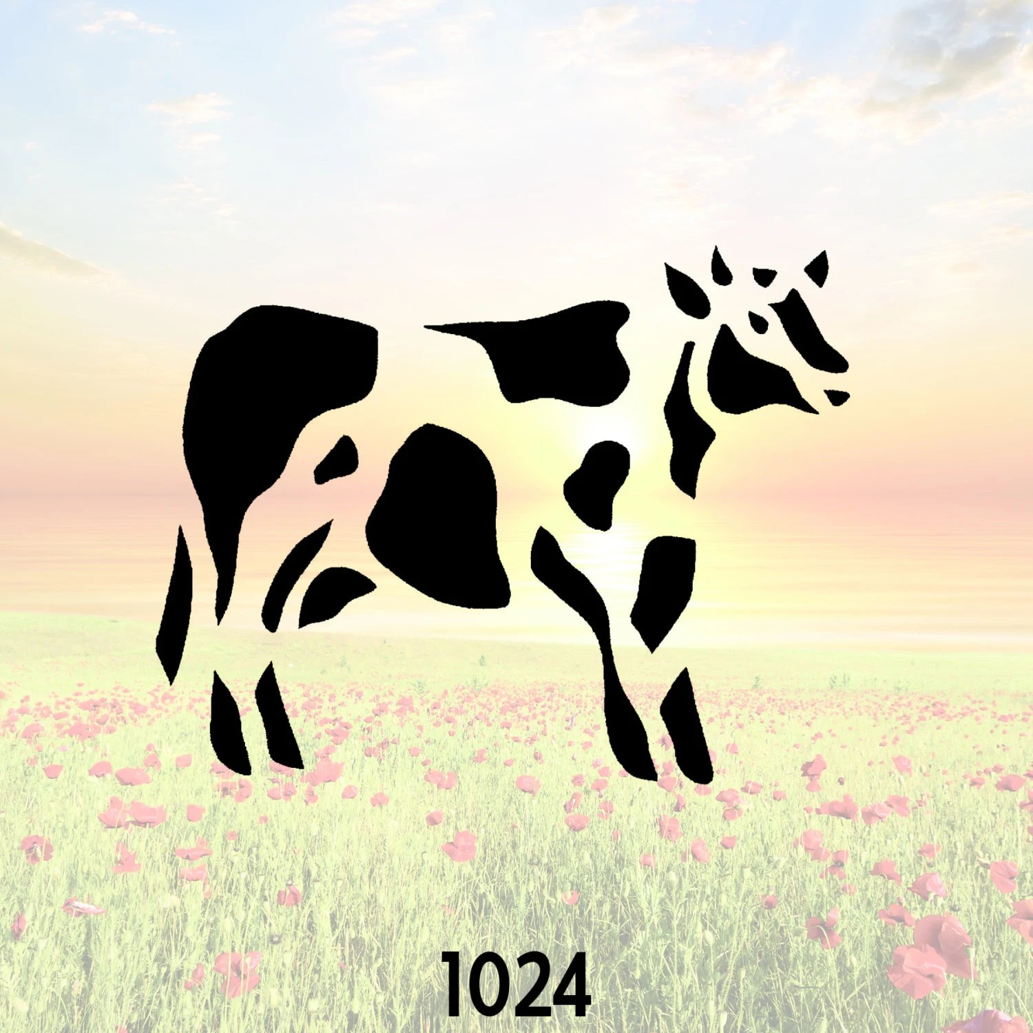 Steer Stencil Cow Holstein Stencil Or Wall Decal Diy Project