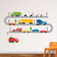 Transportation Wall Decal Cars Wall Decal Vehicles Wall